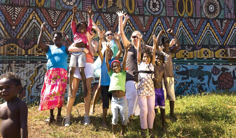 The Tiwi (NT) community is the very definition of vibrant.