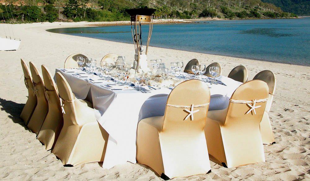 Beach dining Hayman Island style.