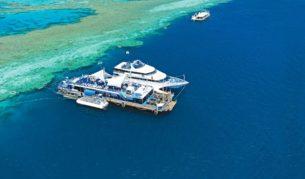 Yep, sleep on the Great Barrier Reef - 40 nautical miles off the coast.
