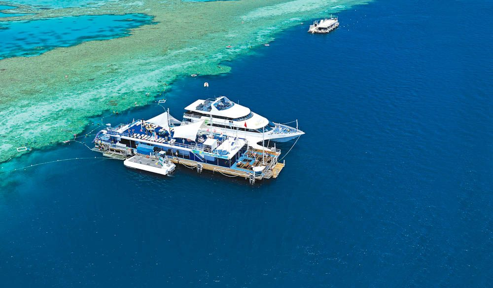 Yep, sleep on the Great Barrier Reef - 40 nautical miles off the coast.