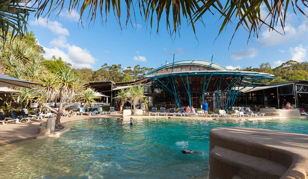 It's not all camping on the island: Kingfisher Bay Resort.