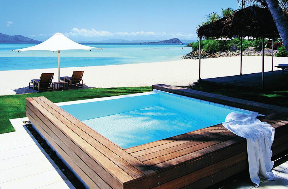 Hayman Beach House's plunge pool.