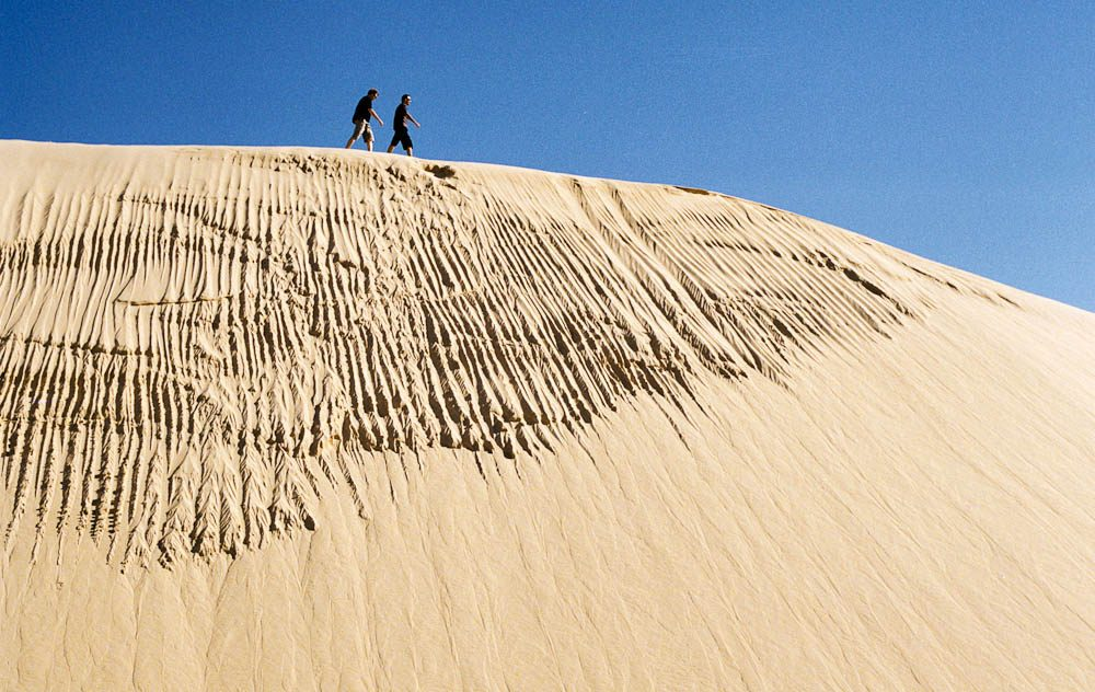 Stockton sand dunes are best done on foot, by 4WD or quadbike, or by horse or camel back.