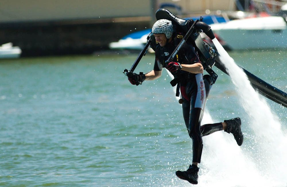 Jet-packing: Only available for teens 16-plus - and adventurous mums and dads, of course.