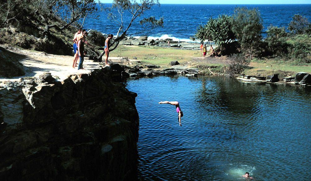 The water is deep and Angourie's famous Blue Pool is only 10km south of Yamba (NSW).