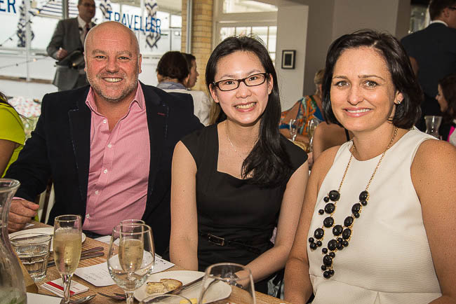 Steve McRoberts (Tourism Queensland) with Adeline Soo and Catherine Cole from Hotels.com.