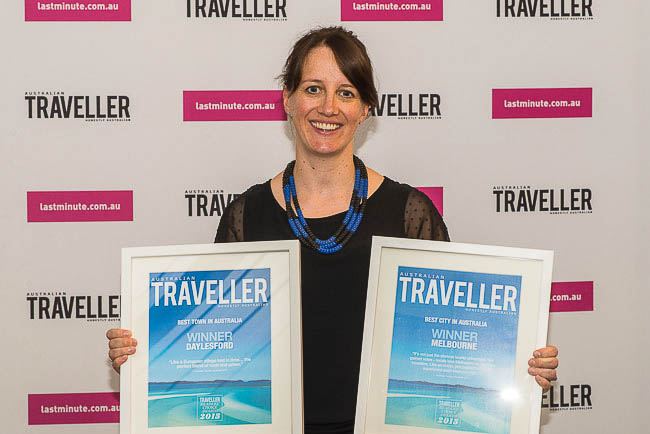 Christina Atherton from Tourism Victoria had a busy night with Melbourne scooping three awards.