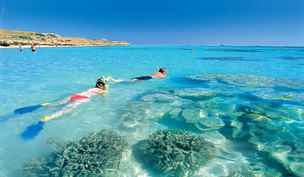 Exploring the reef at Ningaloo (photo: Aspen Parks Resorts).