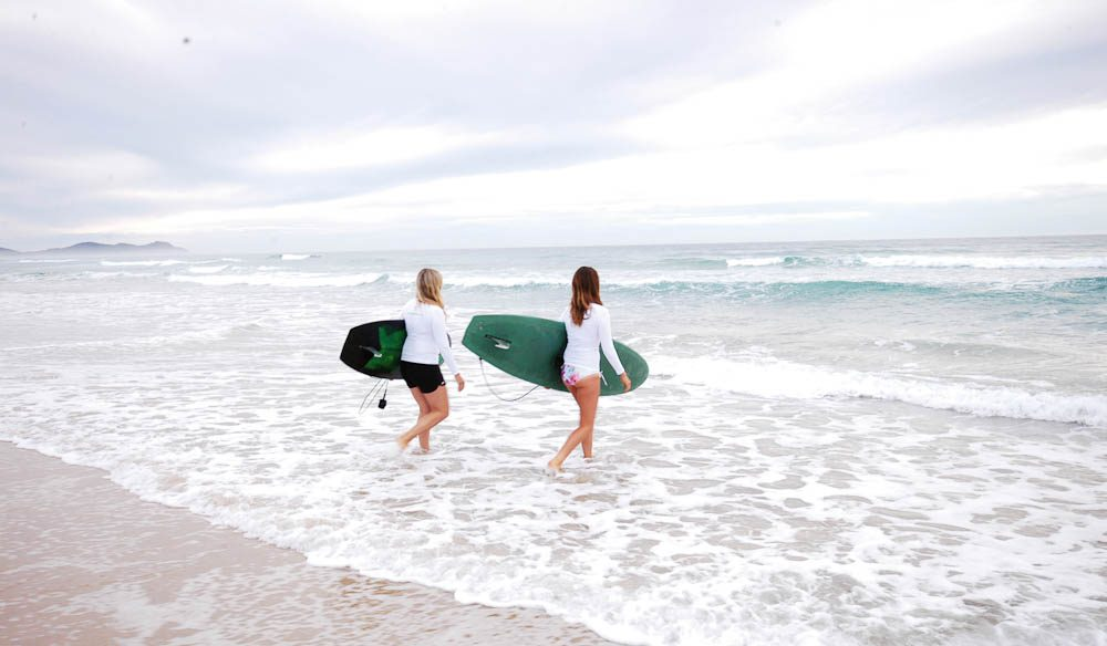 As well as lessons there's plenty of free time to surf on your own with a break right out the front ofthe retreat (Alisa Katan Photography).