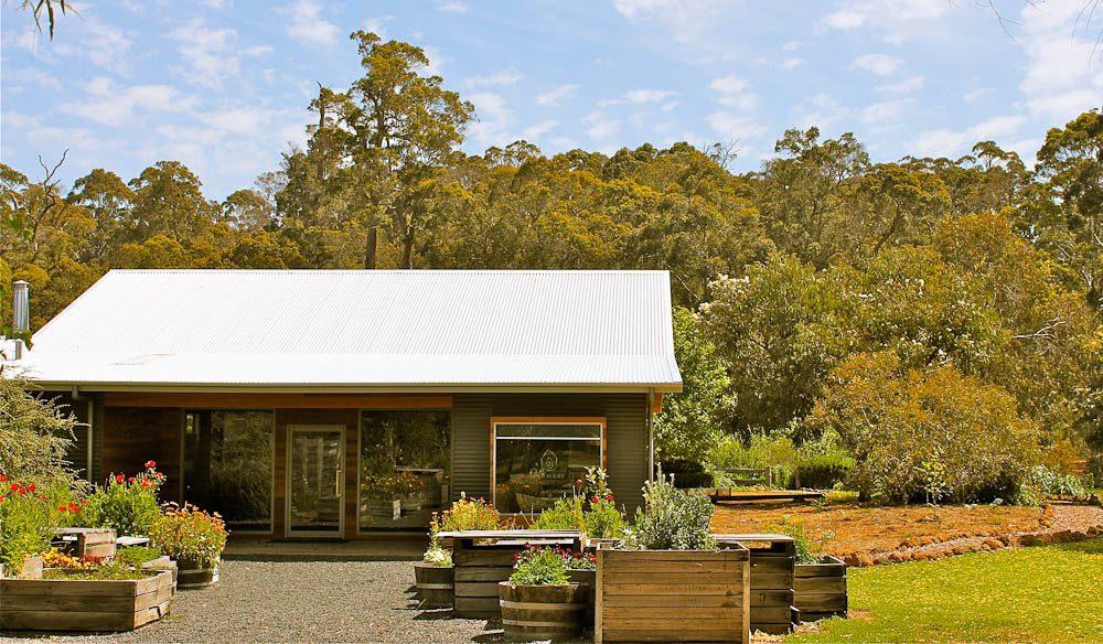 Bush garden surrounding Foragers' Field Kitchen, Pemberton WA