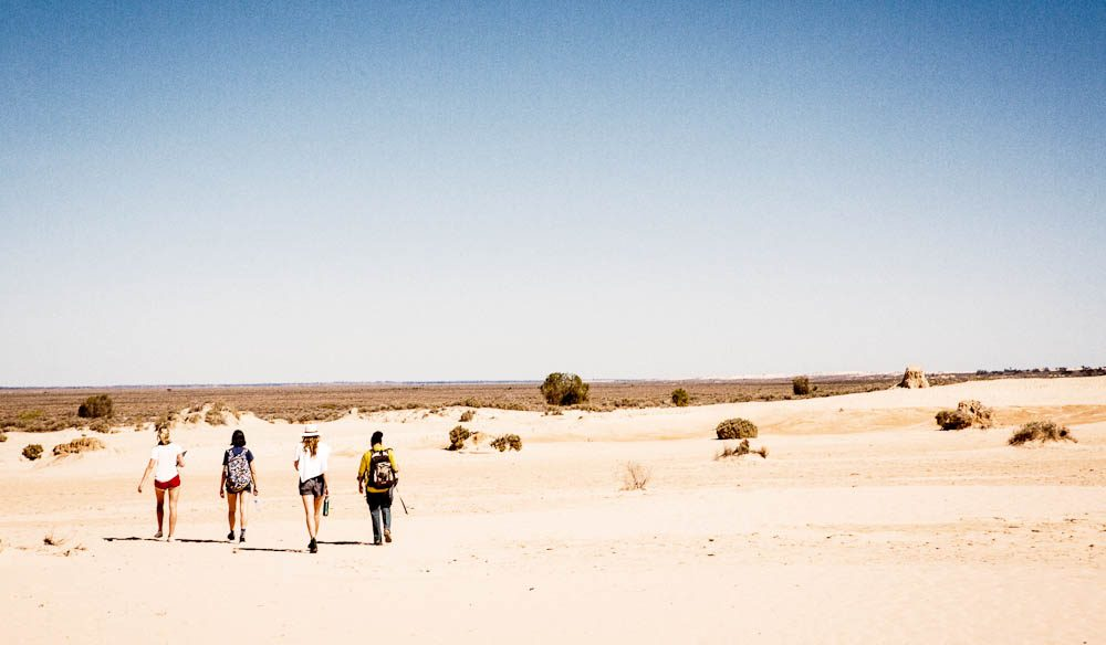Out into the wilds of the Mungo National Park for AT's cover shoot.