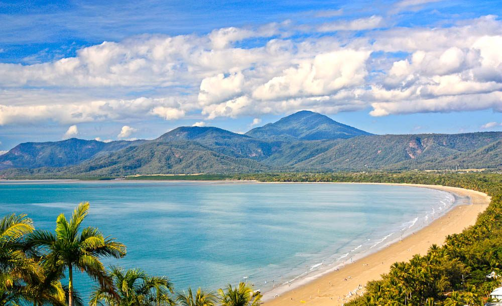 Mango Central: The palm-fringed beach in Port Douglas.