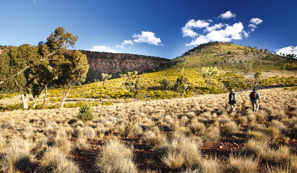 A stroll through the craggy Gundabooka NP, south of Bourke, NSW (David Finnegan).