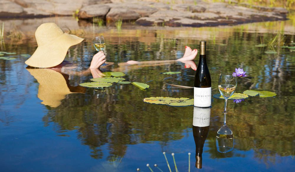 Learn the secrets of winemaking (and indulge) at Faraway Bay Wine in the Wilderness billabong (photo: Ben Knapinski).