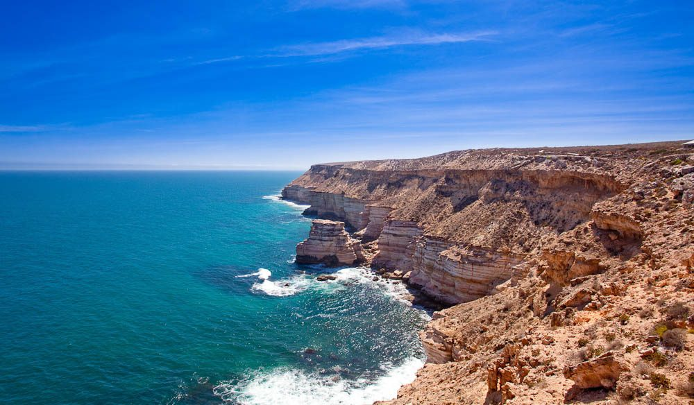 The stunning coastal cliffs in Kalbarri National Park stretch for 13 kilometres