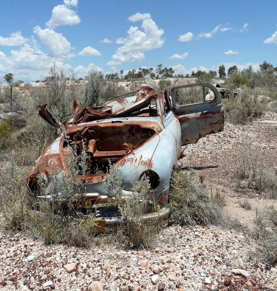 One of the many broken down cars lying around Lightning Ridge - Aneta Nedimovic