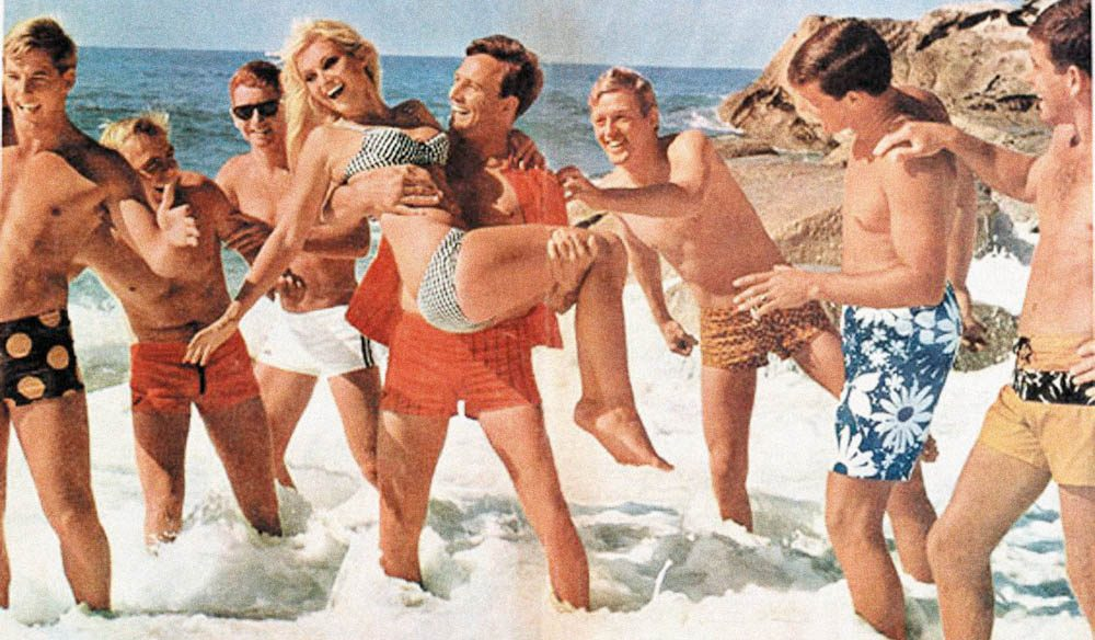 Beach bums: Vintage Speedo advertising.