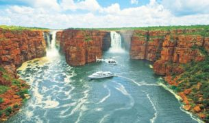 King George Falls from a Kimberley cruise on True North