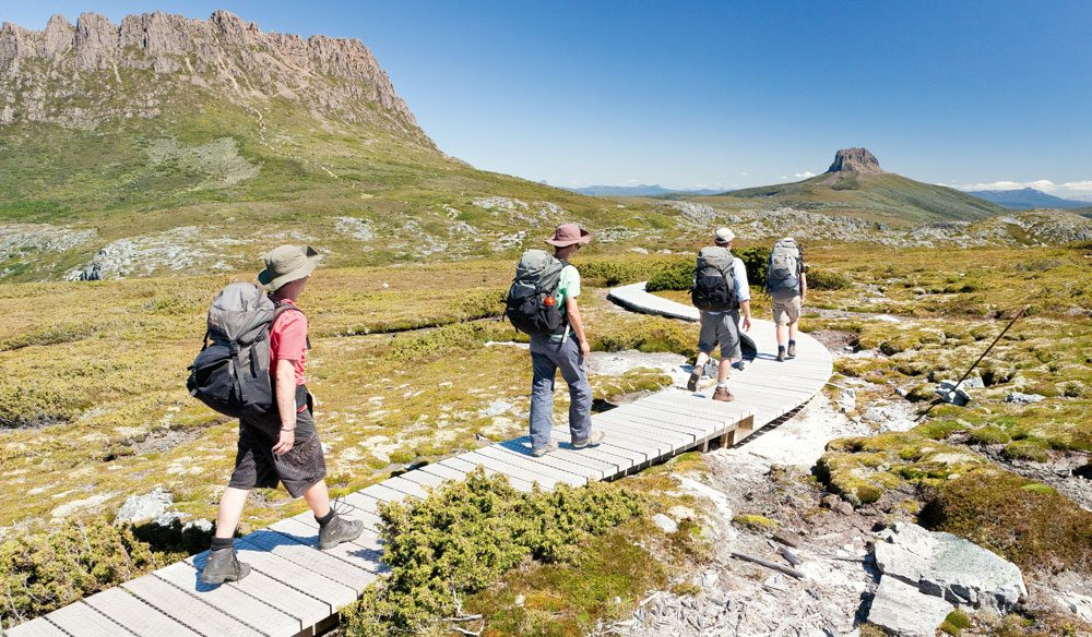 Lake St Clair National Park: on the Overland Track, starring Cradle Mountain (photo: Cradle Mountain Huts).