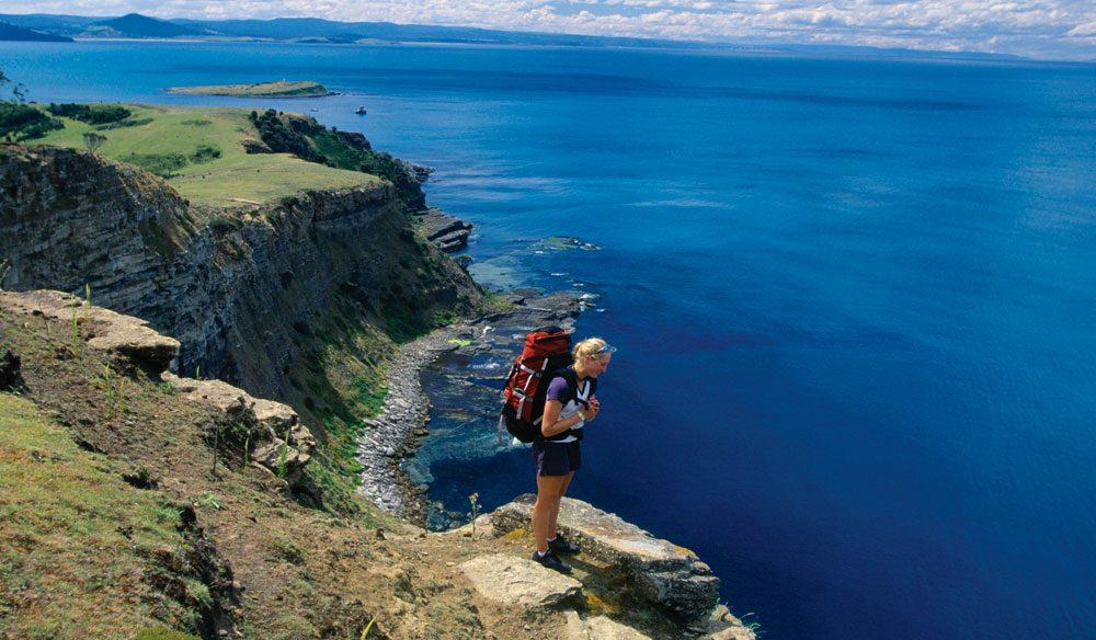 On the walk to Bishop and Clerk, Maria Island, Tasmania (photo: Tourism Tasmania & Don Fuchs)