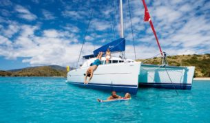 The Whitsundays: Jump on board a bareboat and then jump off for a swim.