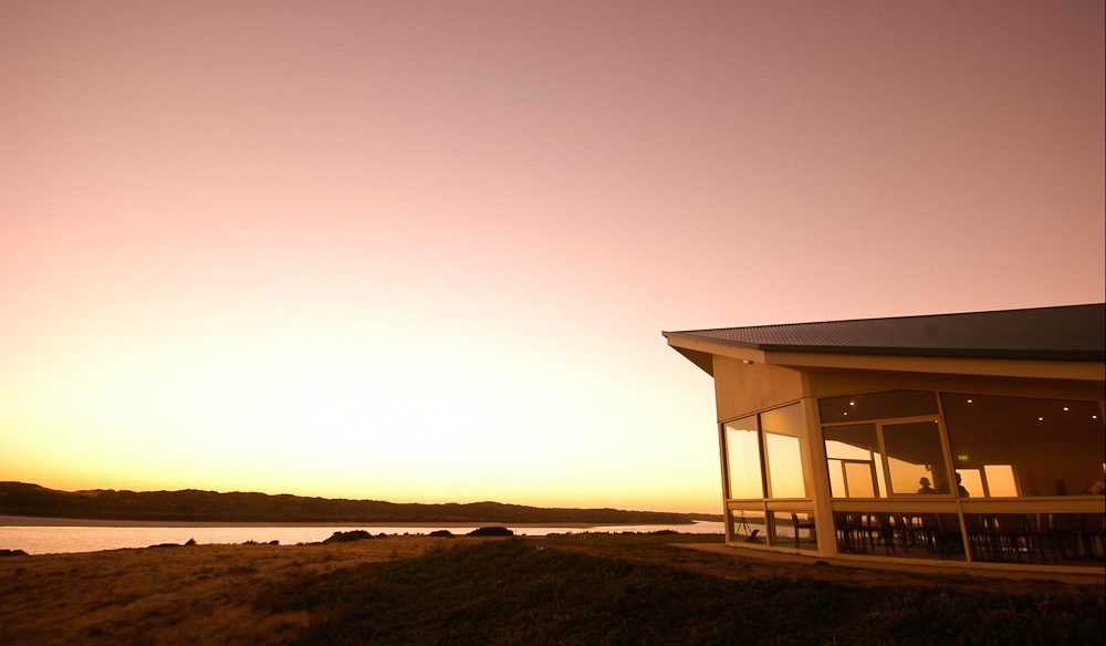 Tuck into that view: Coorong Wilderness Lodge's restaurant.