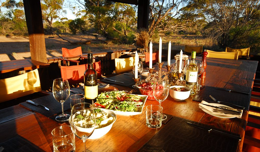 Bush feast: Kangaluna Camp, Gawler Ranges, SA