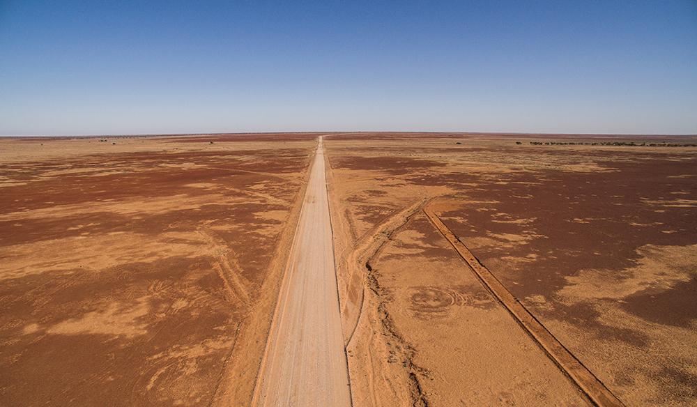 Birdsville track through Sturts Stony Desert