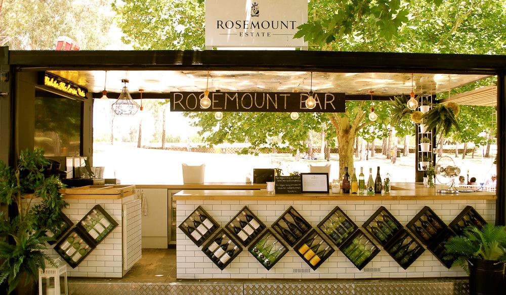 Take a refreshing break from the Adelaide Fringe's frenetic pace at pop-ups such as Rosemount Estate's 'Orchard and Vine' bar.