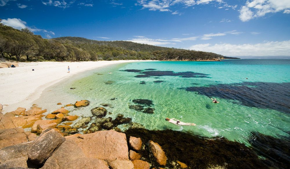 Tassie's exclusive Freycinet Experience, only one walk per week, if you please.