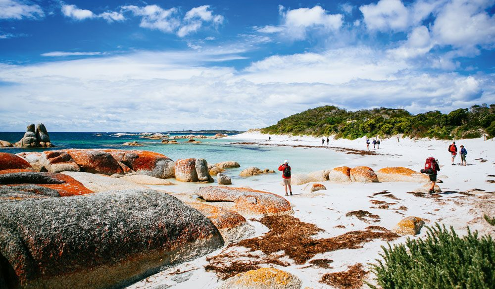 The Bay of Fires walk, Tasmania