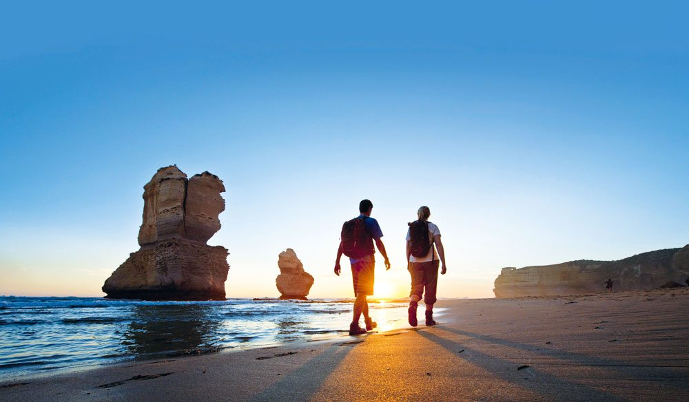 Get off the Great Ocean Road and on to the Great Ocean Track, 100km of sublime walking trails.