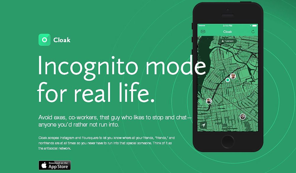 Go incognito with on Instagram with the Cloak app.