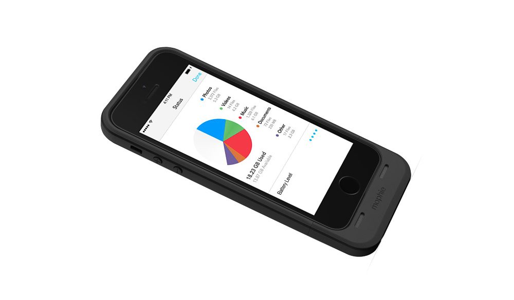 iPhone turbo - Mophie offers more storage and extended battery power.