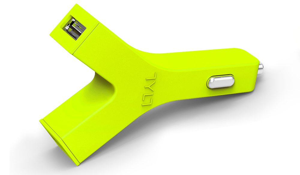Bright spark: TYLT's dual USB car charger.