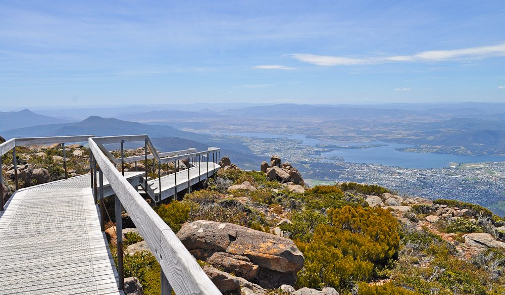 Mt Wellington, Tasmania: International Traveller magazine editor Leigh Ann Pow loves Tassie, any time, any where.