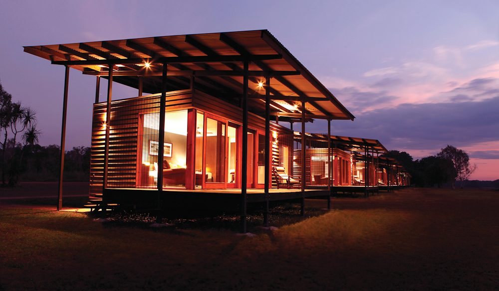 Eco glamping: Wildman Wilderness Lodge Northern Territory.