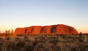 Uluru, also known as Ayers Rock, in central australia. Uluru Kata-Juta National Park