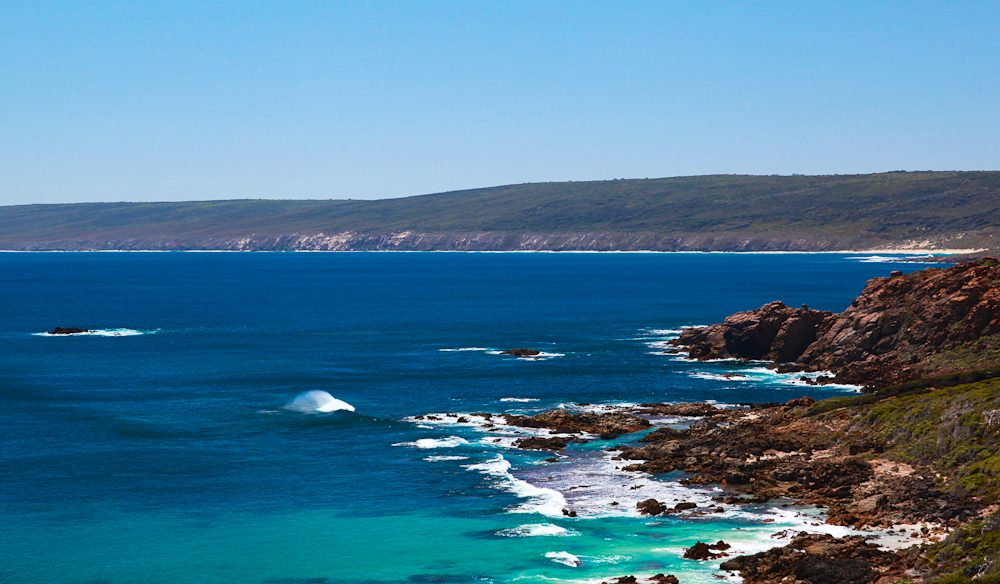 Azure: One side of the view on the Cape to Cape track, Margaret River, WA. (photo: Fleur Bainger).