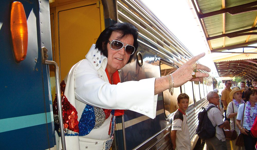 Elvis has left the train - and entered the Parkes Elvis Festival.