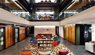 The East Hotel in Canberra features a retro-style foyer