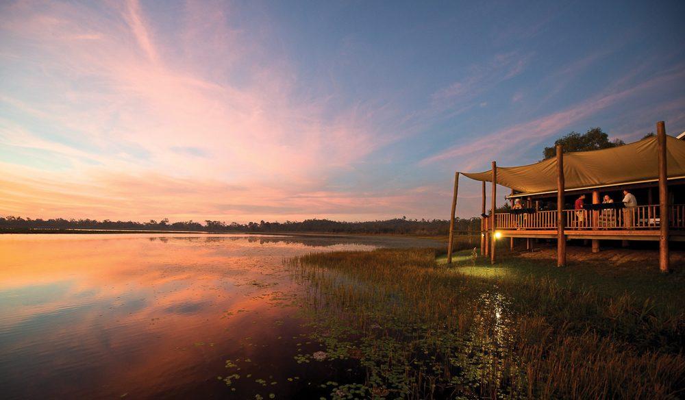 The sunset makes a statement: Jabiru Safari Lodge, Queensland