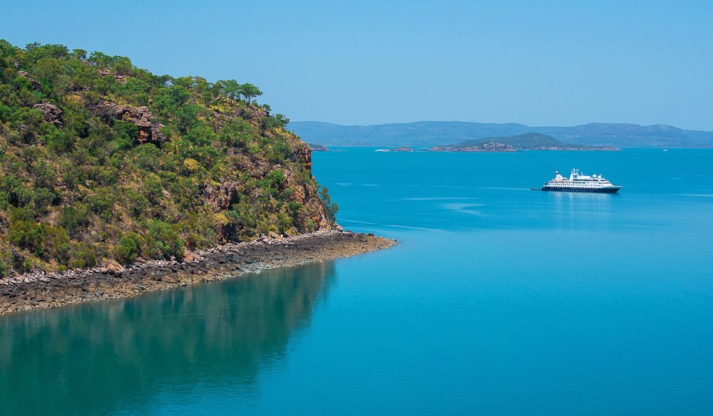 Taking in the Kimberley Coast (onboard the Orion) at a leisurely and luxe pace. (photo: Bec Taylor)