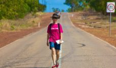 Peta Burton charity walk from Cairns to Cape York for Jogs for Jugs