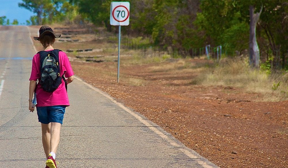 Peta Burton readies for her step by step charity journey from Cairns to Cape York.