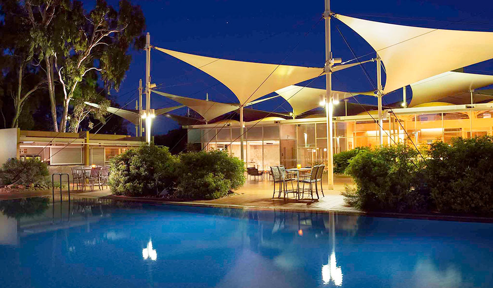 The five star resort at Uluru, Sails in the Desert.