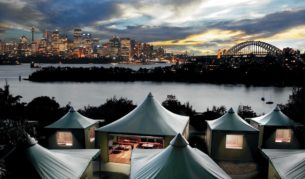 Road and snore: Taronga Zoo family glamping.