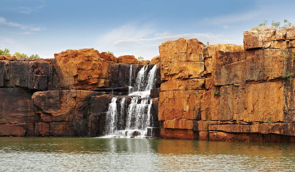 The Kimberley's trademark: gorges and waterfalls.