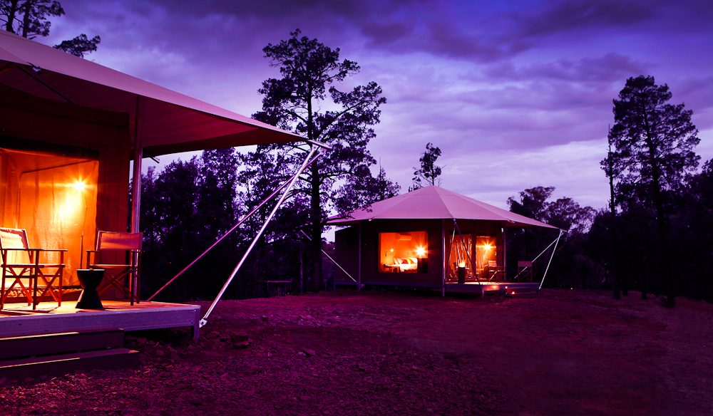 Glamping underneath the vast Flinders Ranges sky at Wilpena Pound.