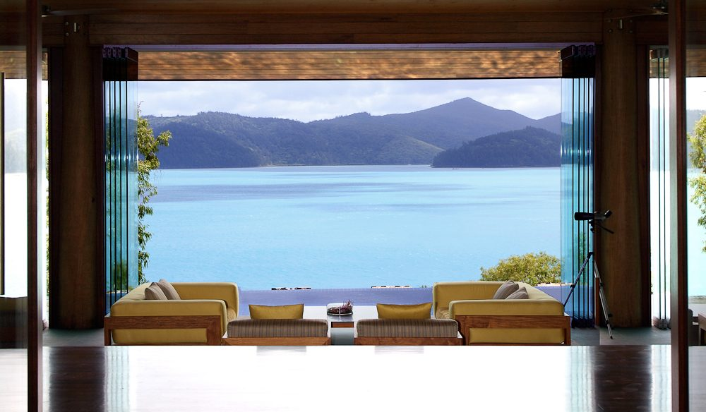 Revelling in those Hamilton Island vistas: Long Pavillion, qualia.